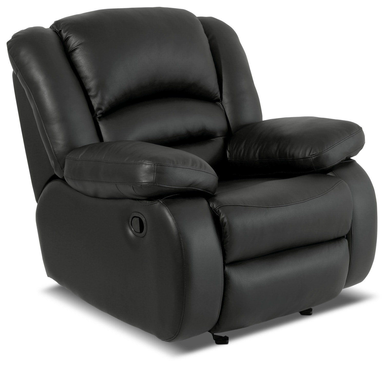 Living Room Furniture - Toreno Genuine Leather Reclining Chair – Black