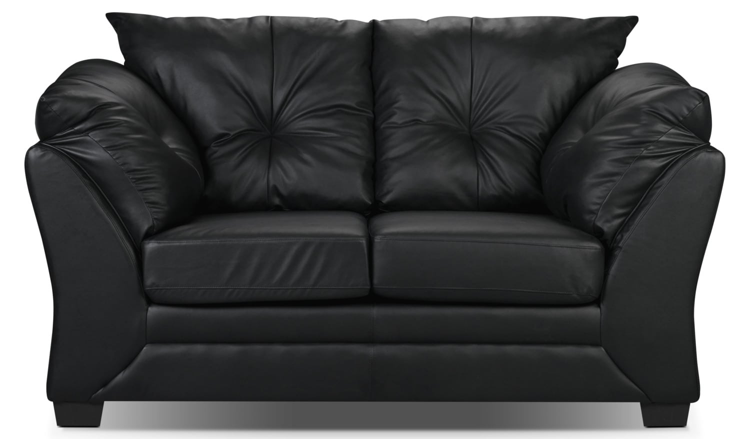 max faux leather loveseat black