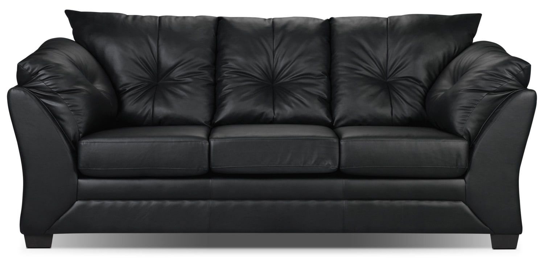 Max Faux Leather Sofa Black The Brick