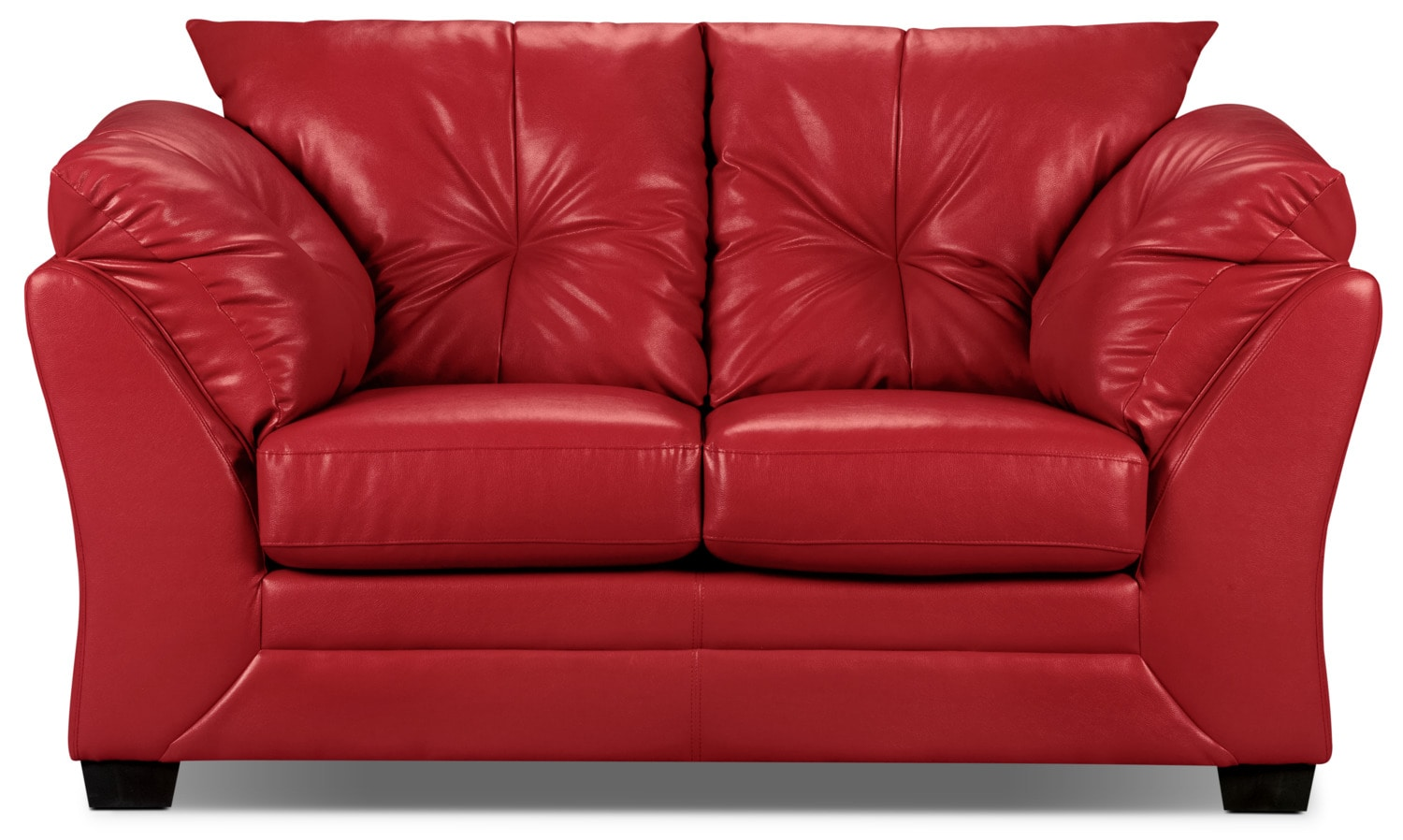 Max Faux Leather Loveseat - Red