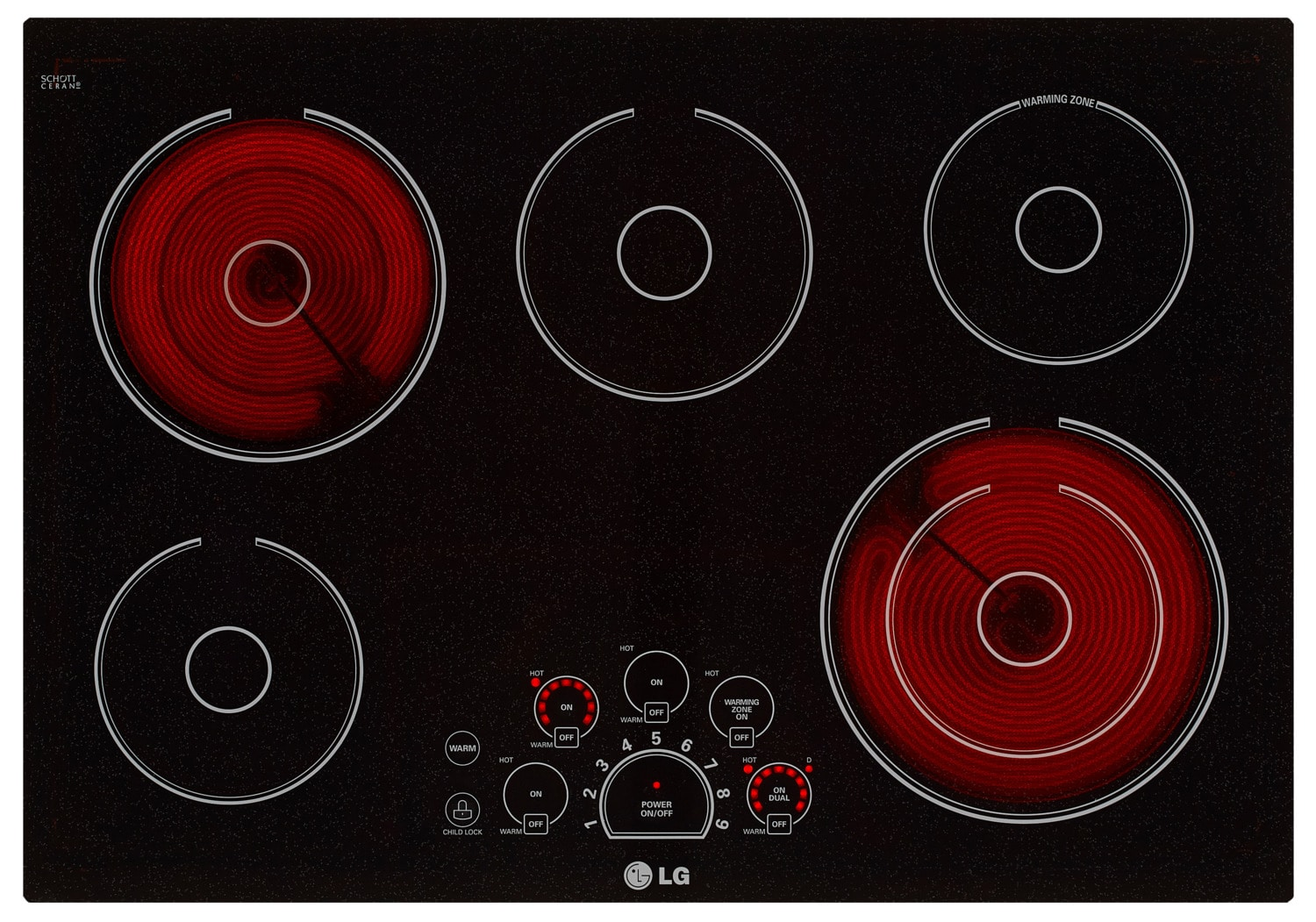 """Cooking Products - LG 30"""" Electric Cooktop – LCE3010SB"""