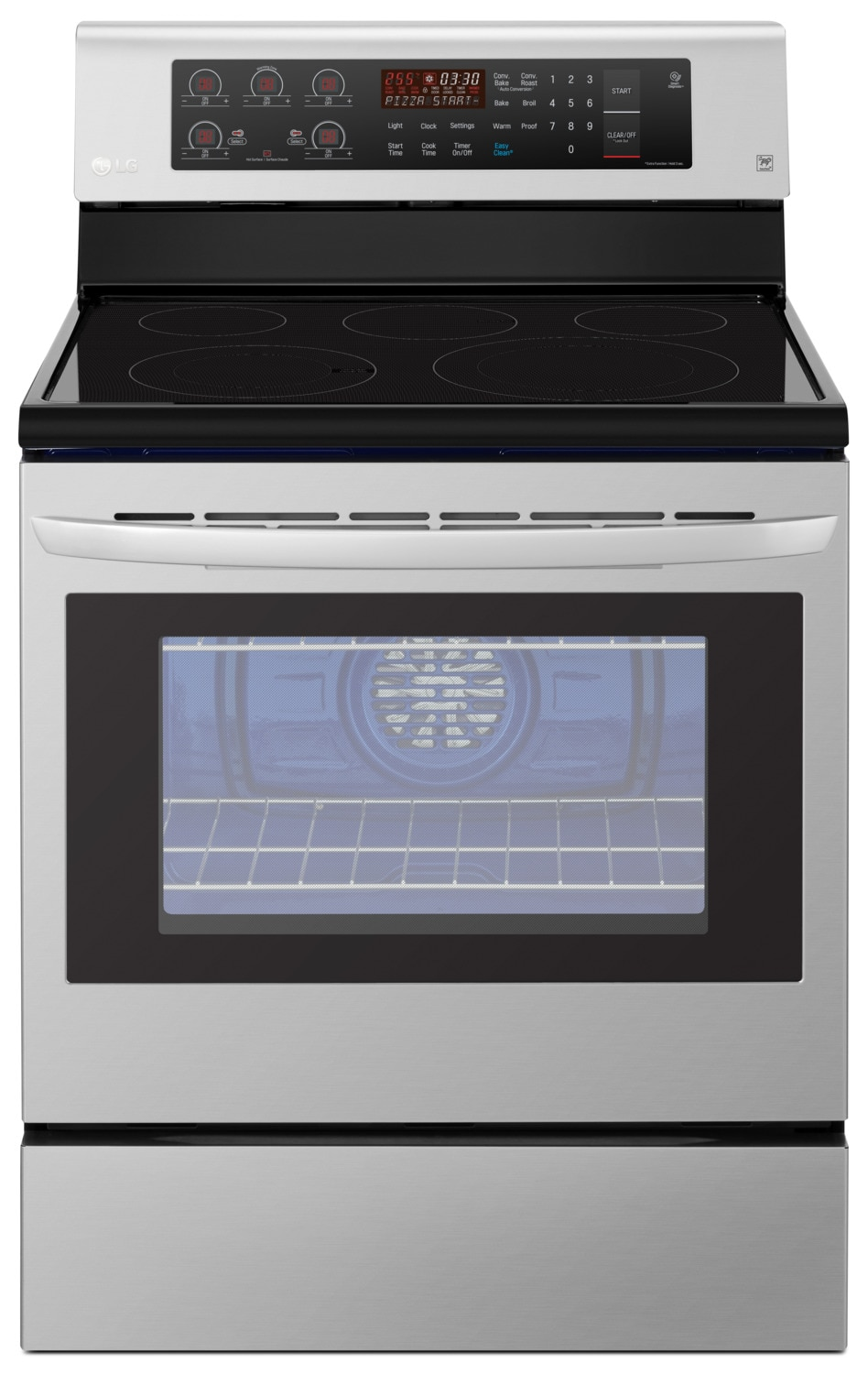 LG 6.3 Cu. Ft. Freestanding Convection Electric Range – LRE3193ST