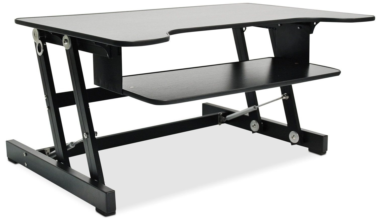 Home Office Furniture - Rocelco Adjustable Desk Riser - Black