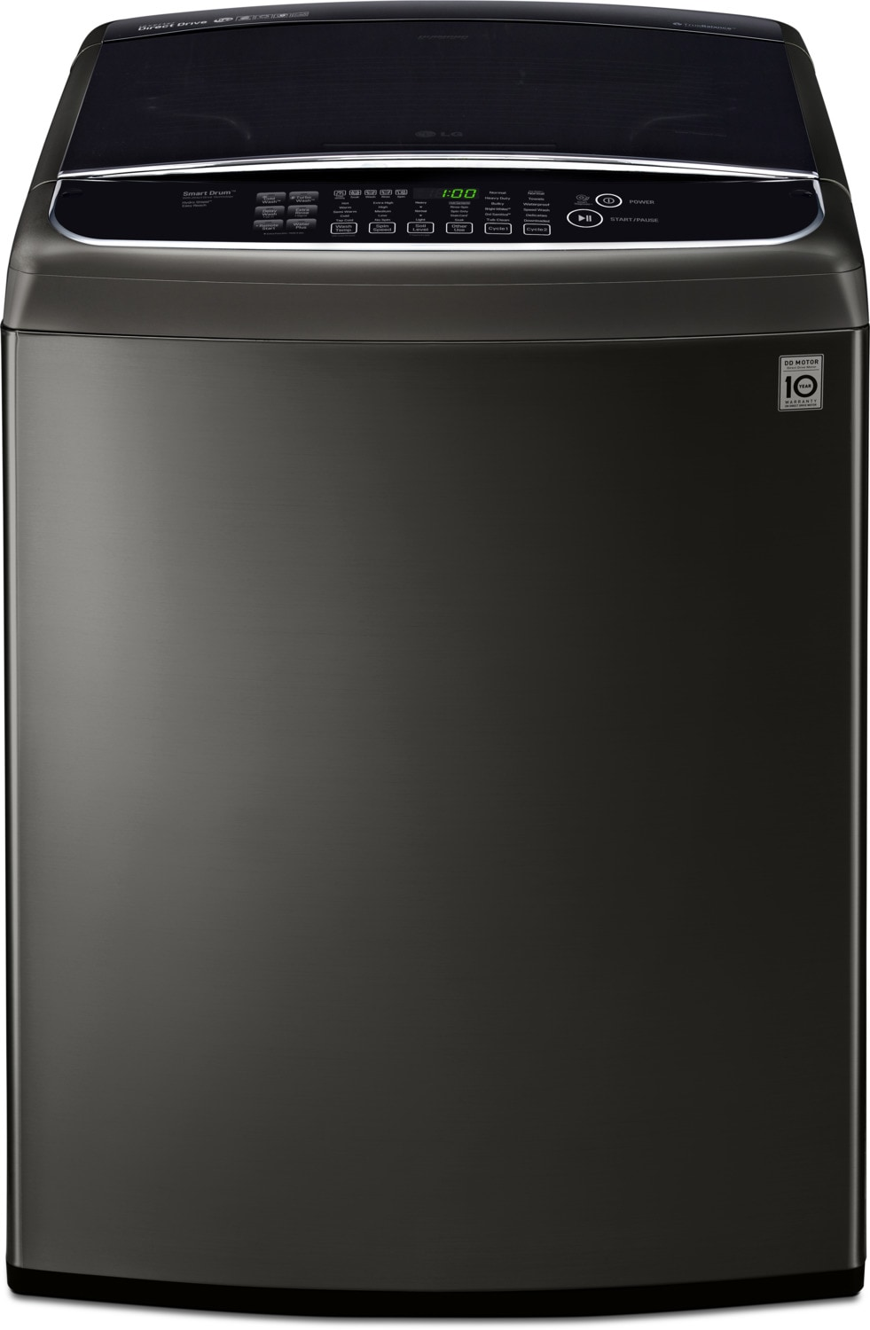 LG 5.8 Cu. Ft. Top-Load Washer with TurboWash™ – WT1901CK