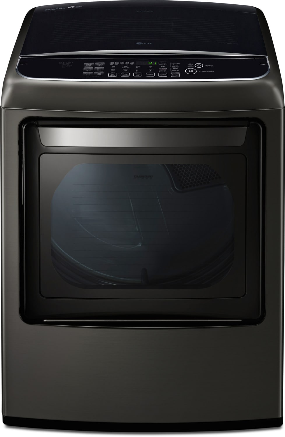 Washers and Dryers - LG 7.3 Cu. Ft. Electric Steam Dryer with EasyLoad™ – DLEY1901KE