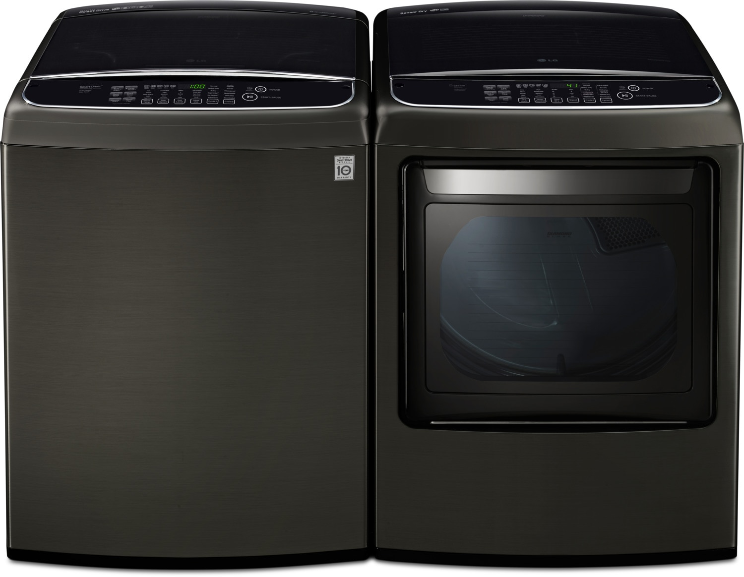 LG 5.8 Cu. Ft. Top-Load Washer and 7.3 Cu. Ft. Electric Steam Dryer
