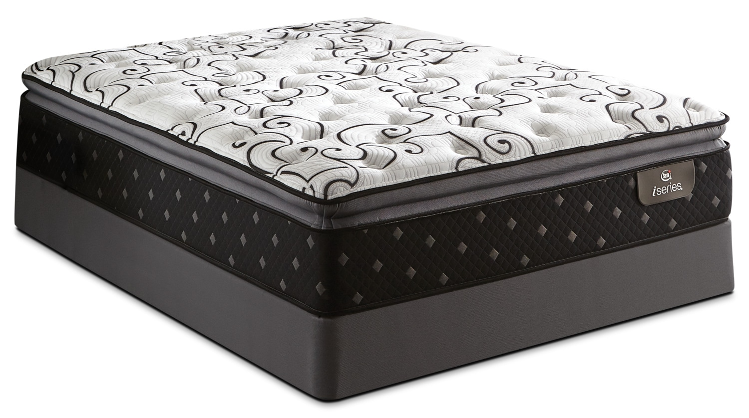 Serta iSeries® Karina Pillow-Top Luxury Firm Queen Mattress Set