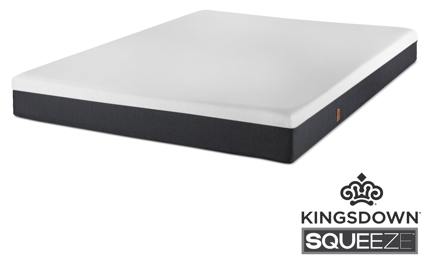 "Mattresses and Bedding - Squeeze Queen 7"" Mattress-in-a-Box by Kingsdown"
