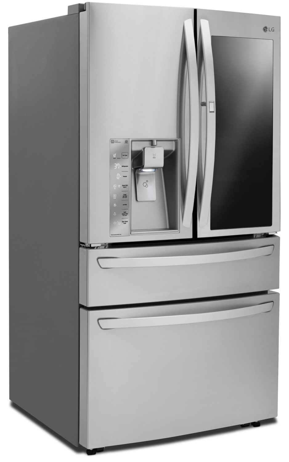 lg 30 cu ft french door refrigerator with instaview door in door lmxs30796s the brick. Black Bedroom Furniture Sets. Home Design Ideas