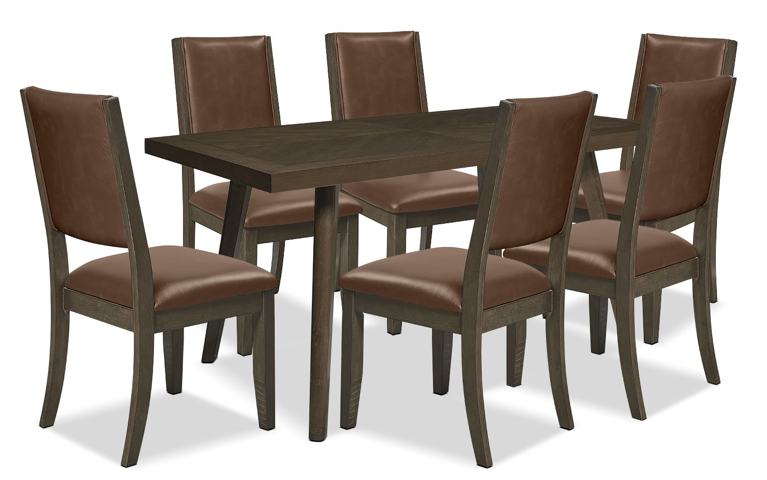 Banff 7-Piece Dining Package – Brown