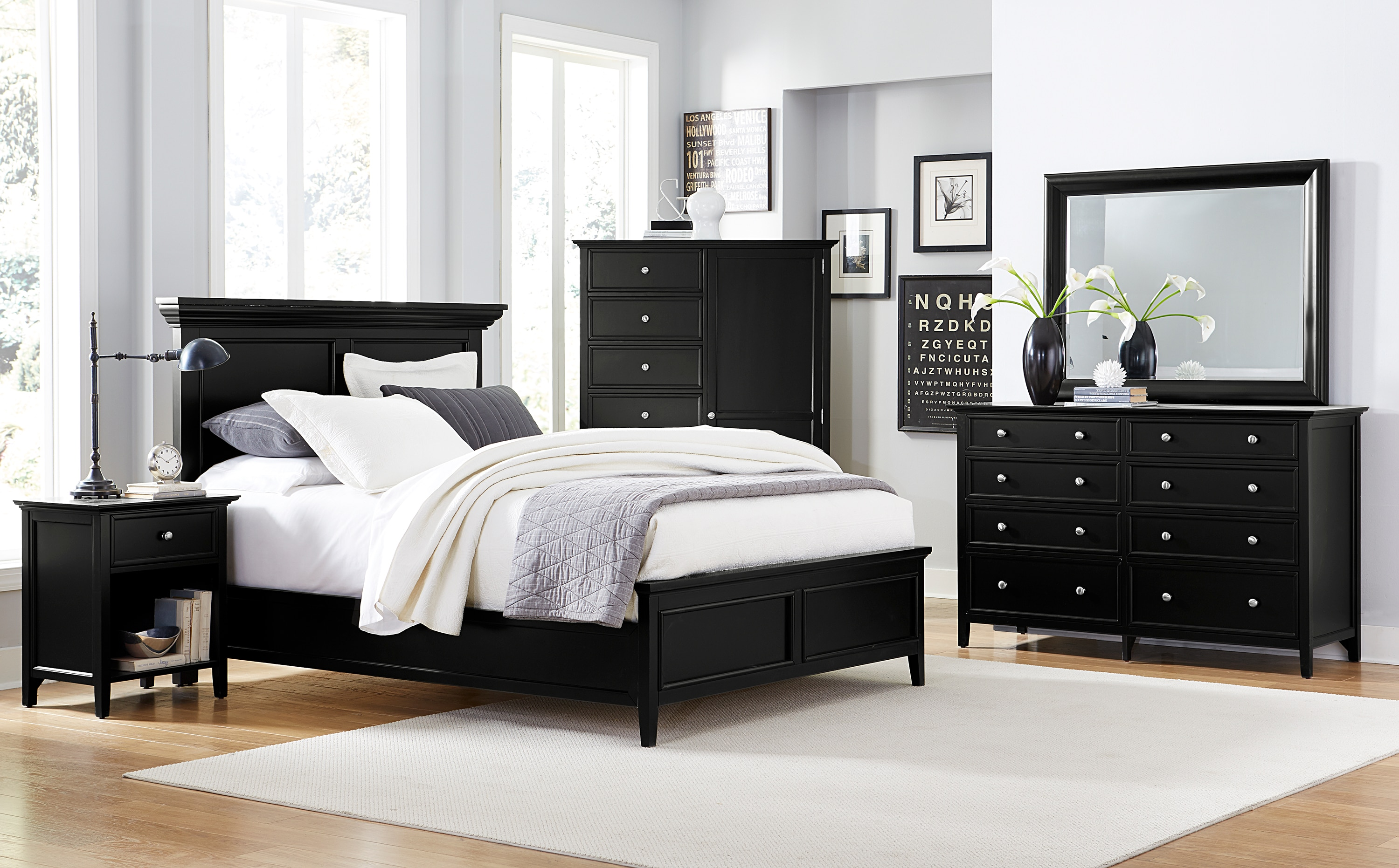 Ellsworth 4-Piece Queen Bedroom Set - Black