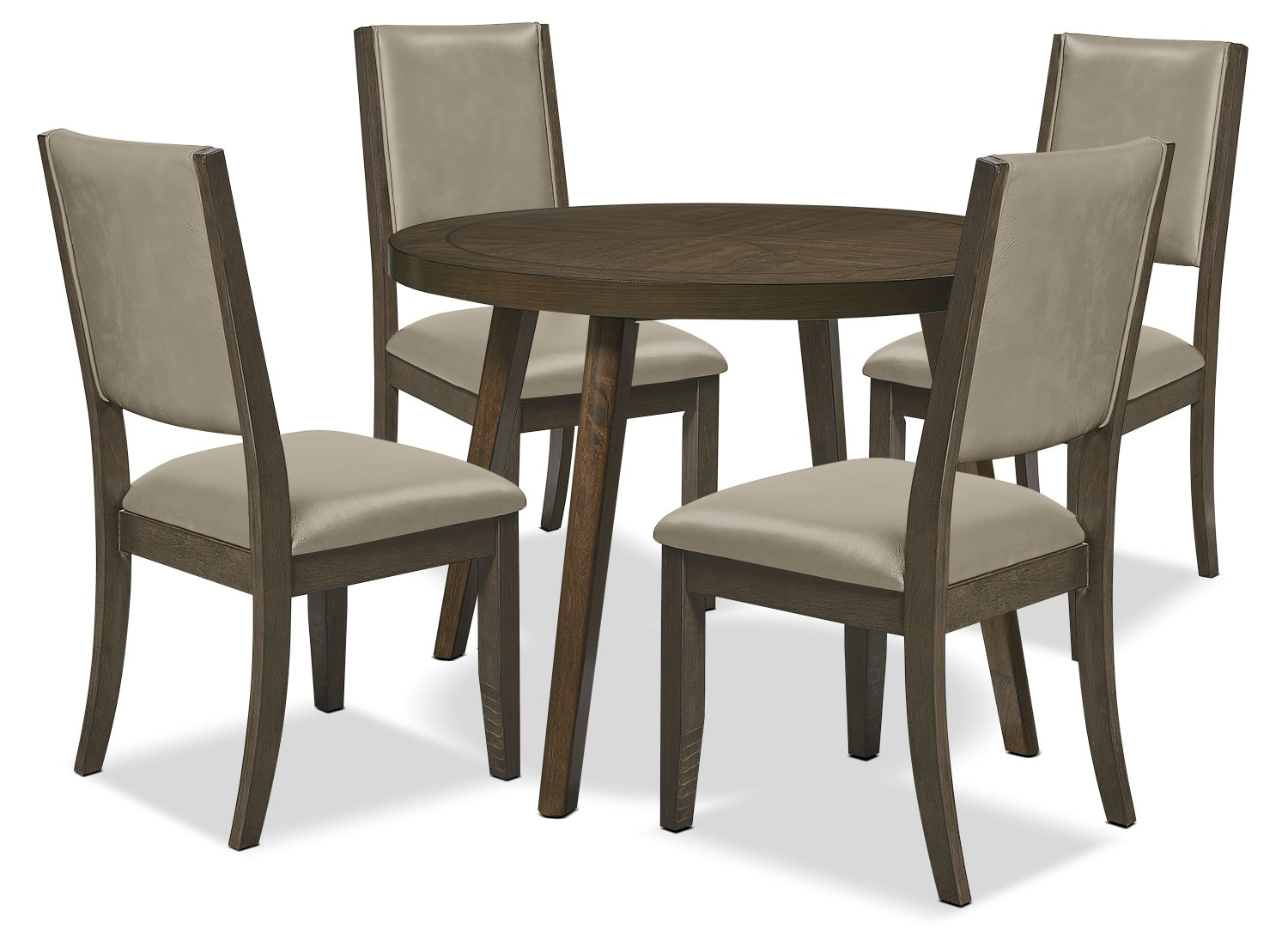 Banff 5 Piece Dining Package with Round Table Quarry  : 539912 from www.thebrick.com size 1500 x 1103 jpeg 165kB