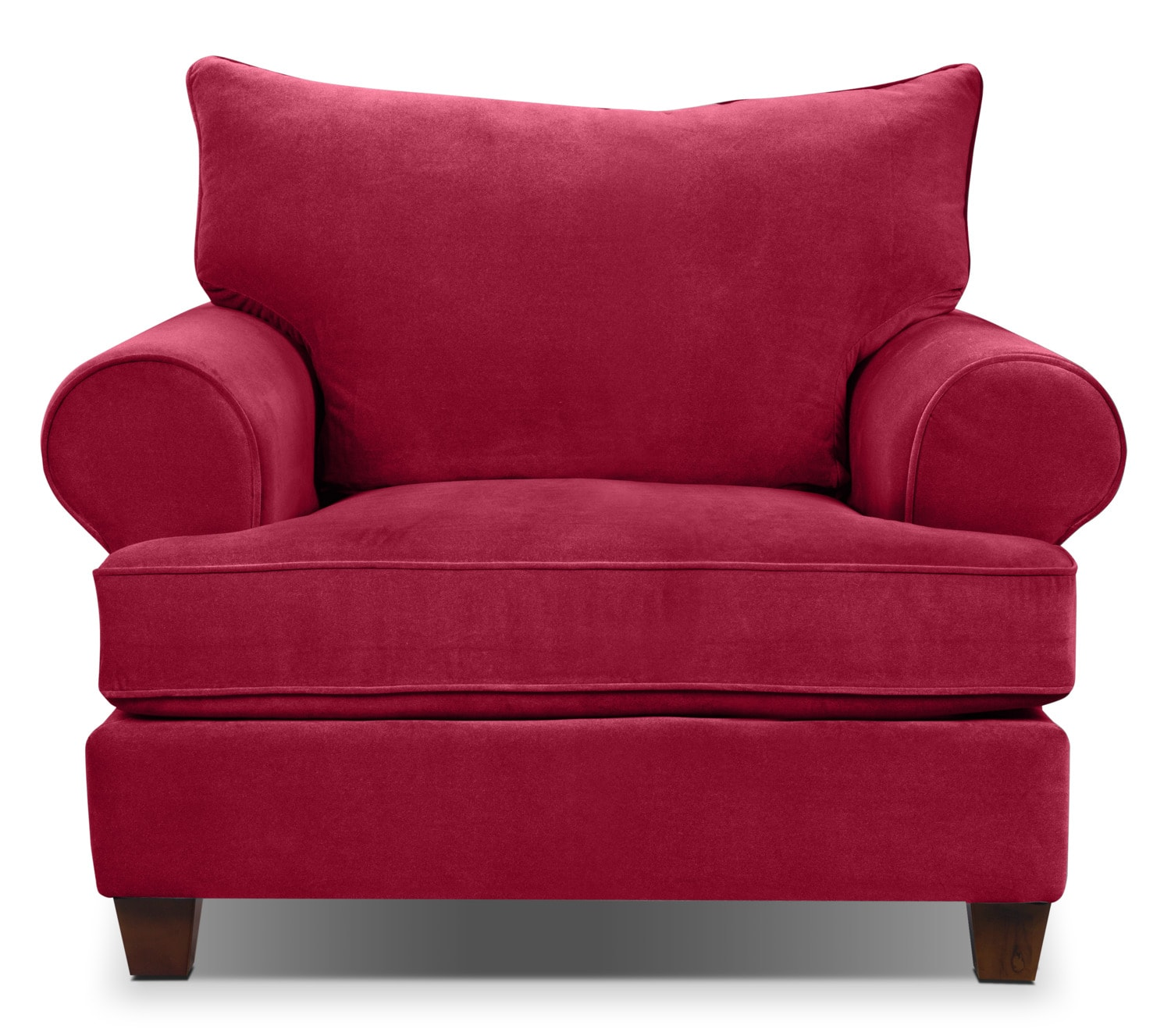 Living Room Furniture - Paige Microsuede Chair - Red