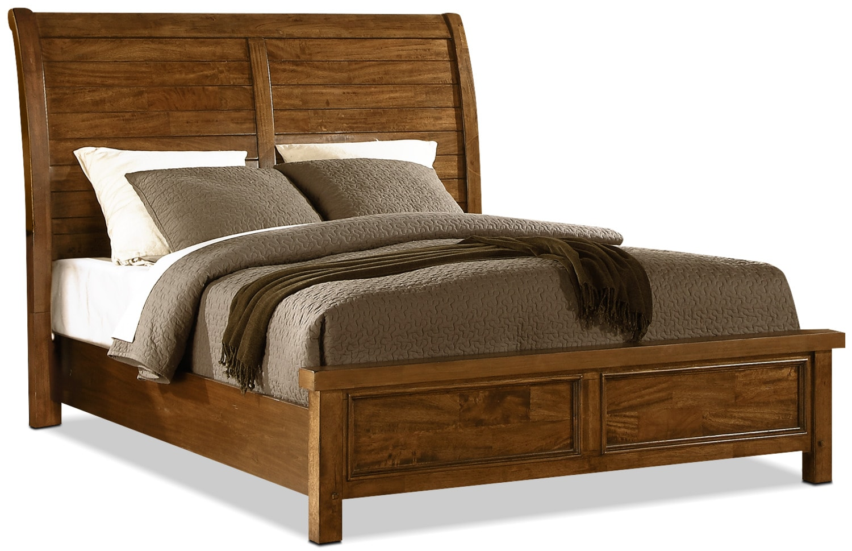 Bedroom Furniture - Sonoma King Sleigh Bed – Medium Brown
