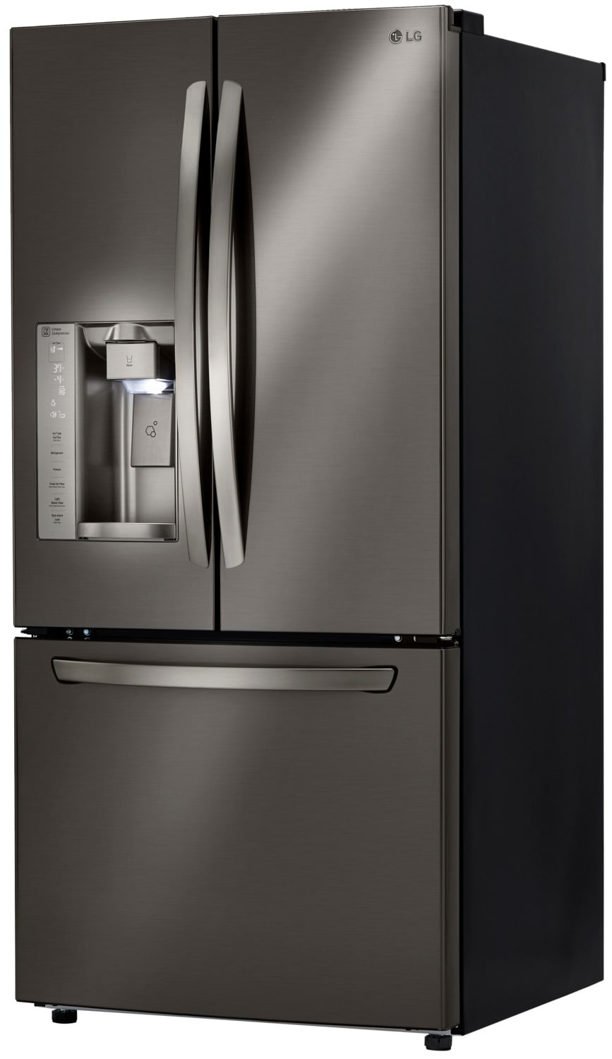 Lg Black Stainless Steel French Door Refrigerator 24 Cu