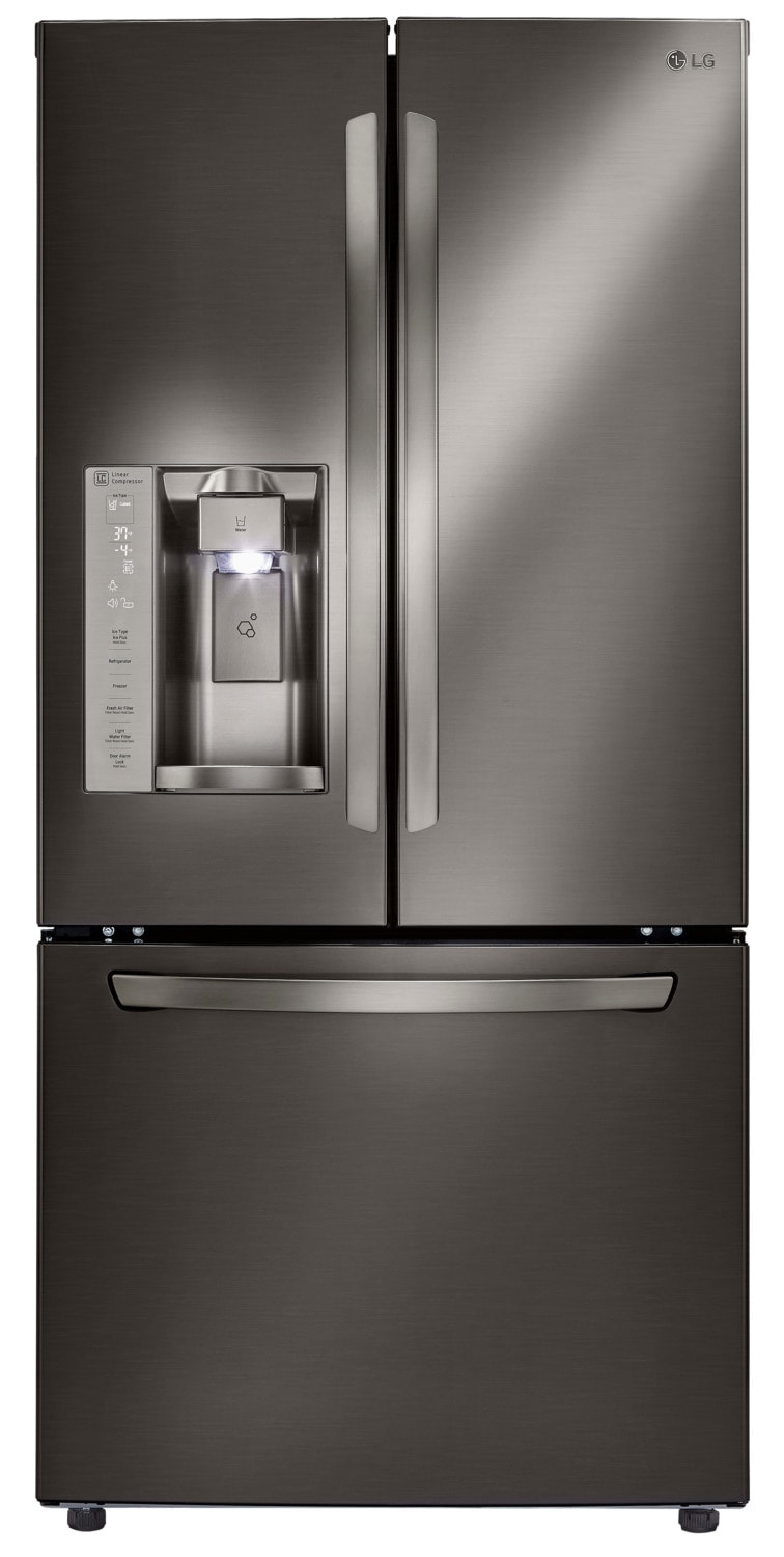 LG Black Stainless Steel French Door Refrigerator (24 Cu. Ft.) - LFXS24623D