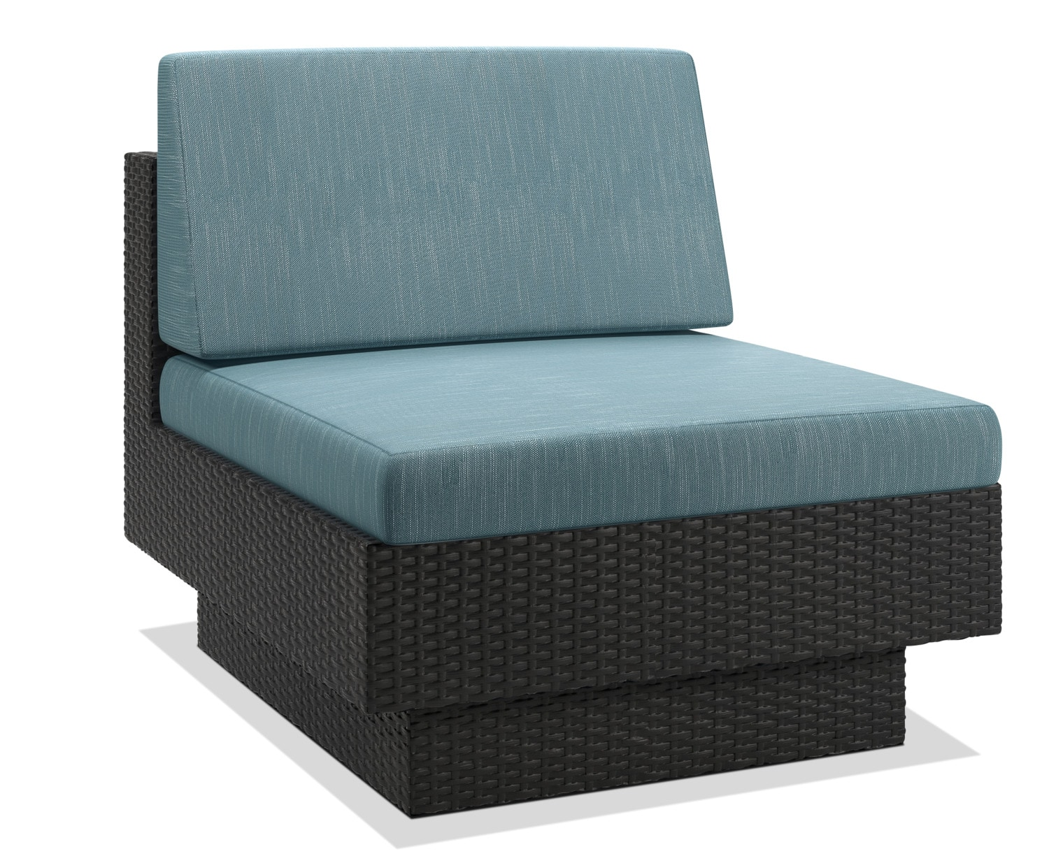 Parkview Patio Armless Chair – Blue