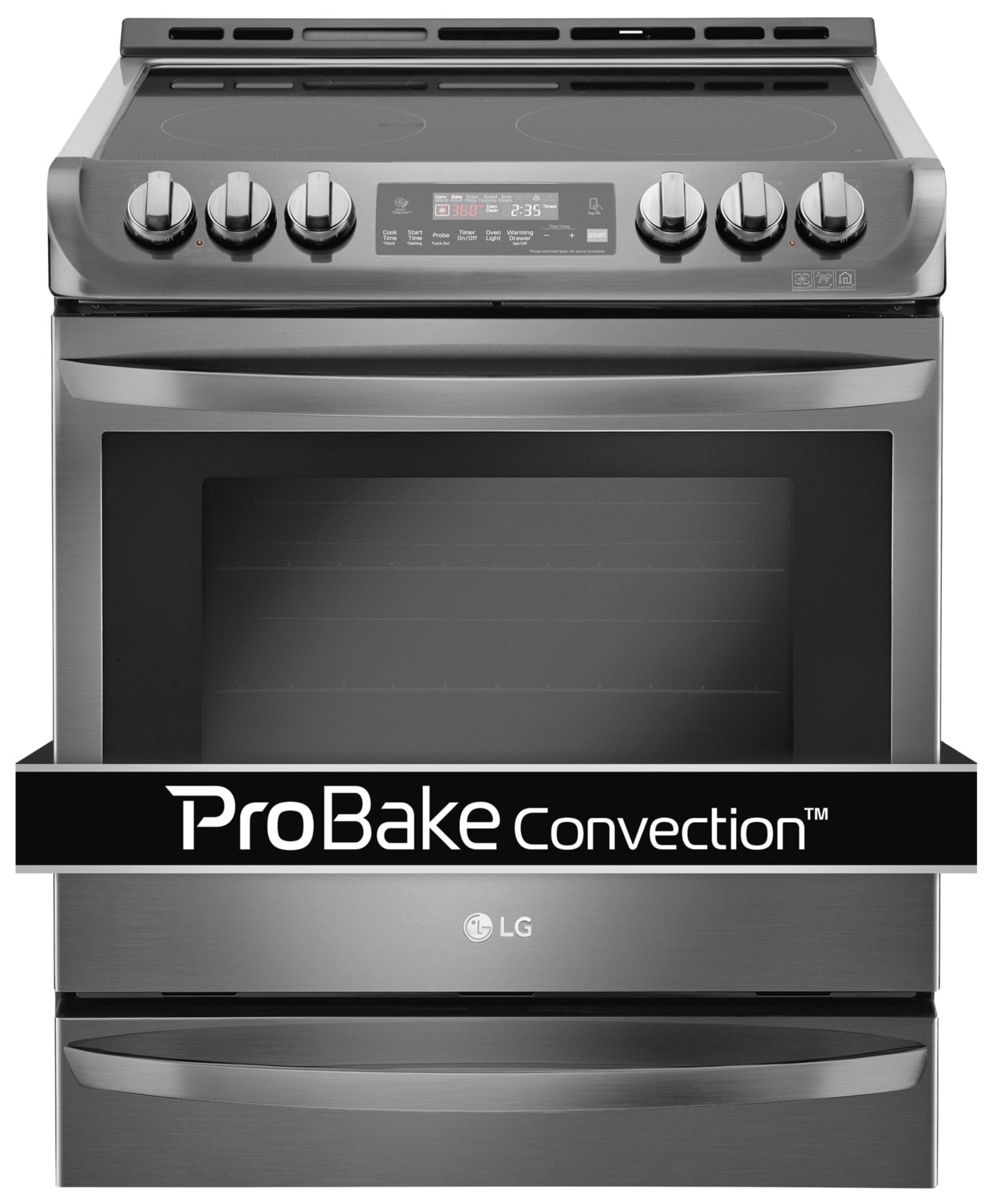 LG Black Stainless Steel Slide-In Electric Range (6.3 Cu. Ft.) - LSE5613BD