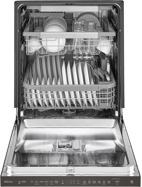lg black stainless steel 24quot dishwasher ldp6797bd leons