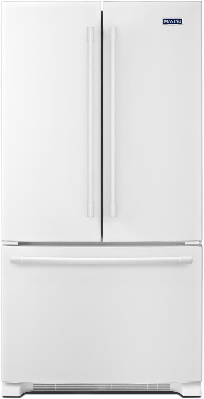 Maytag White Bottom-Mount French Door Refrigerator (22 Cu. Ft.) - MFF2558FEW