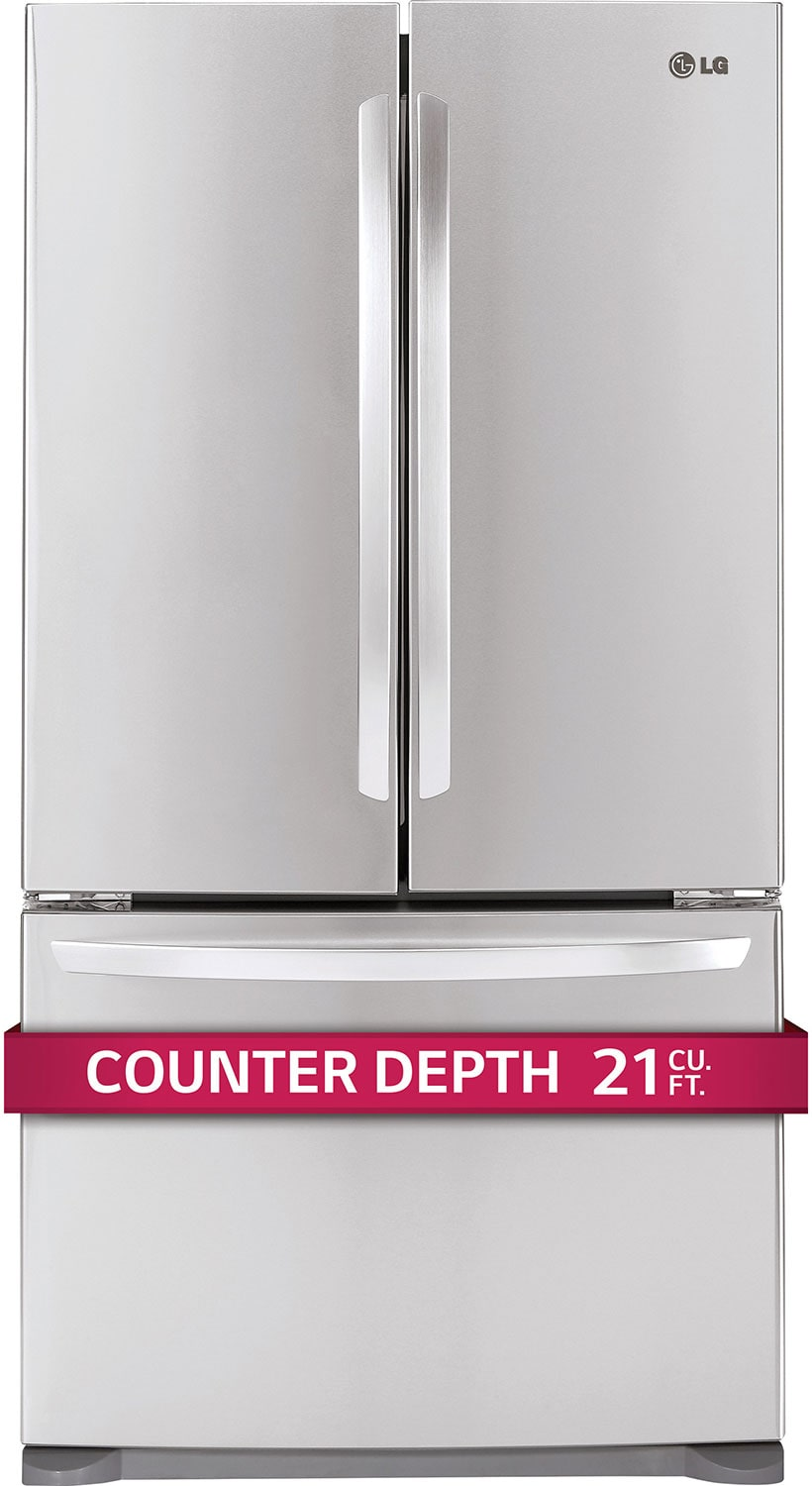 LG Stainless Steel Counter-Depth French Door Refrigerator (20.7 Cu. Ft.) - LFC21776ST