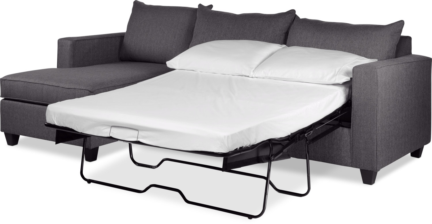Halley 2 Piece Full Sofa Bed Sectional With Left Facing