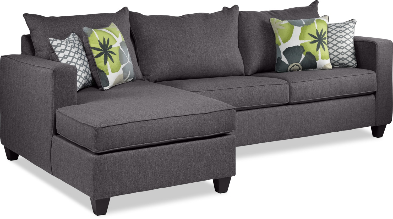 Halley 2 piece full sofa bed sectional with left facing for Sofa bed leons