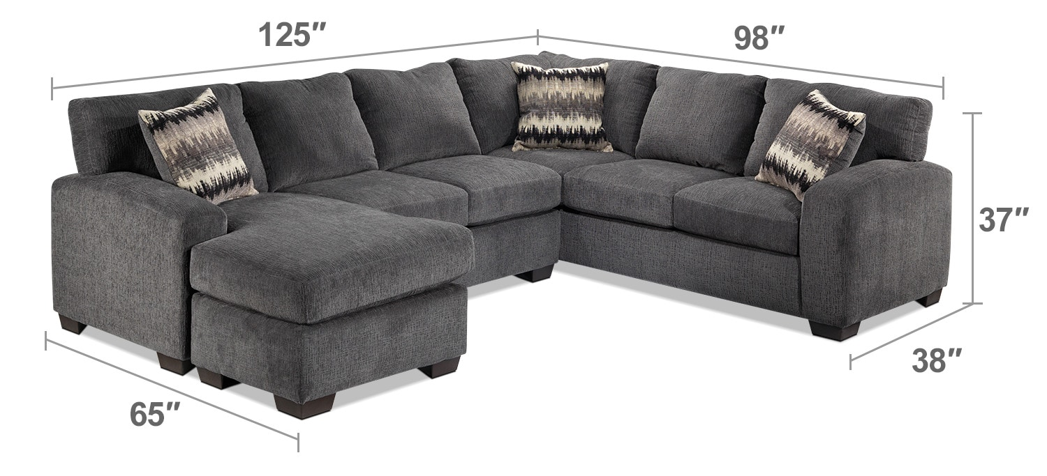 Perth 2 Piece Left Facing Sectional With Chaise