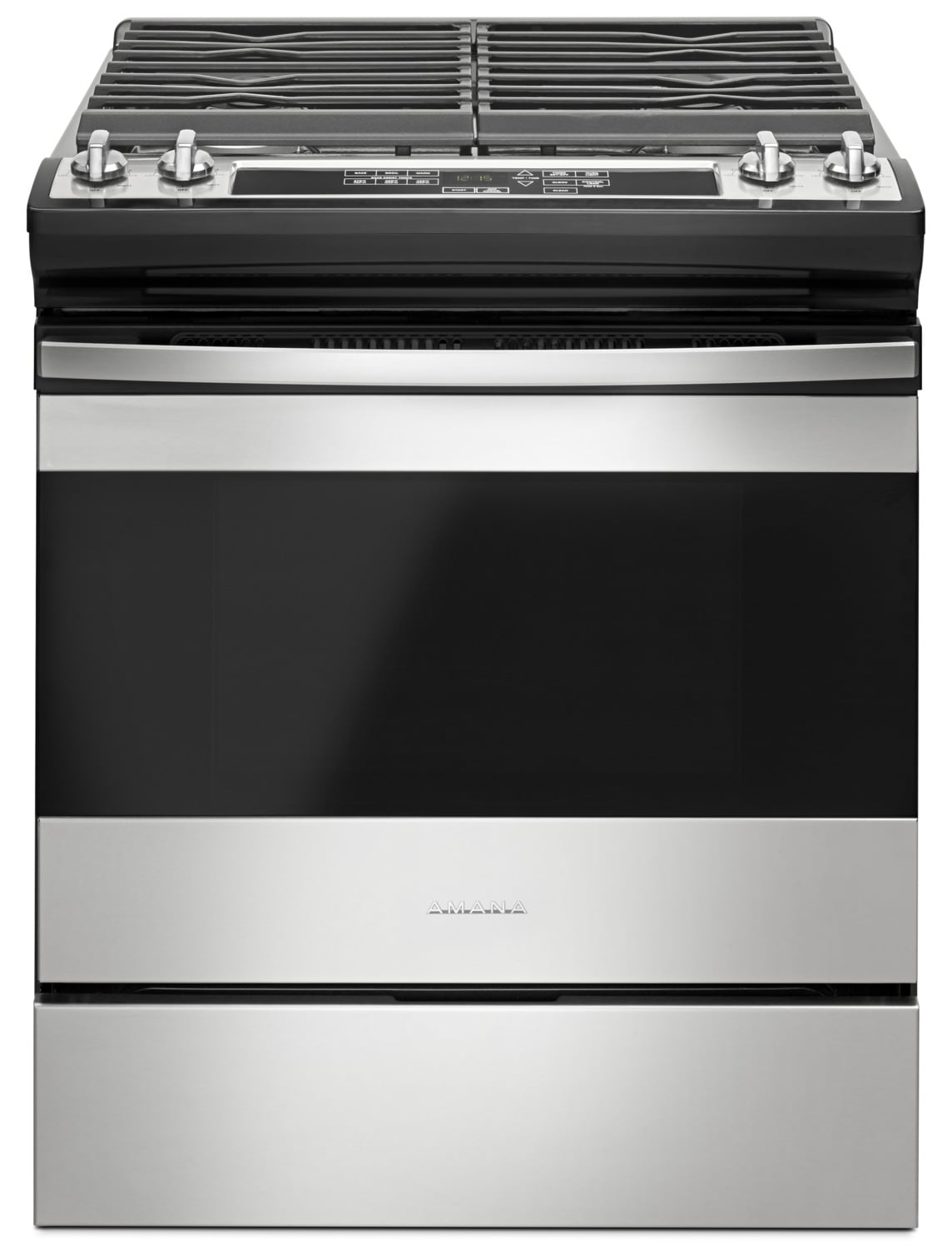 Whirlpool white ice appliances best buy - Amana 5 0 Cu Ft Slide In Gas Range Ags6603sfs