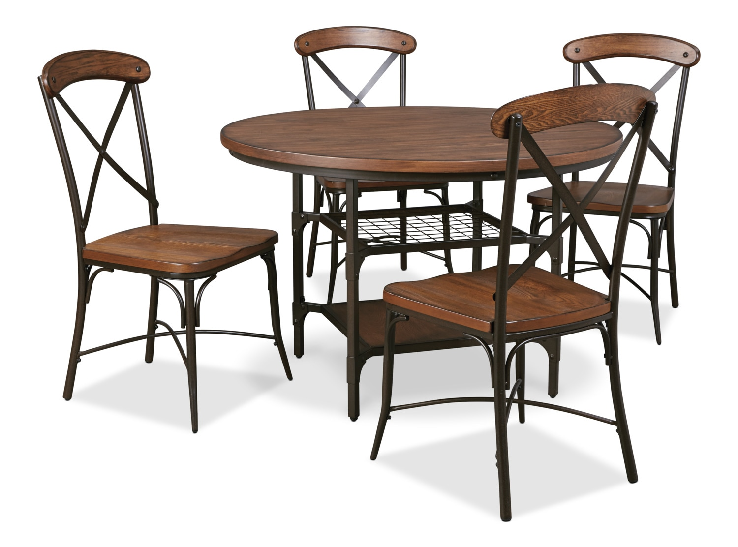Dining Room Furniture - Rolena 5-Piece Dining Package