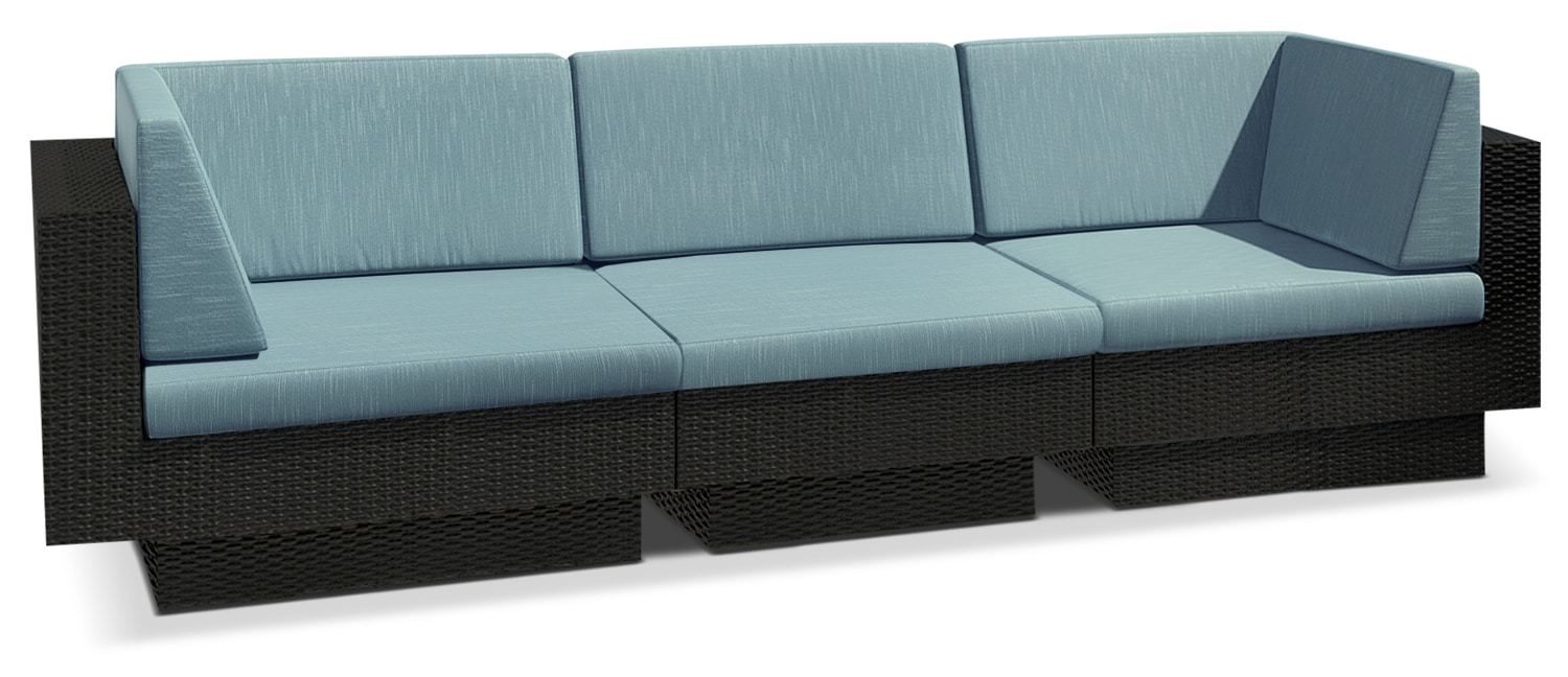 Parkview 3-Piece Patio Sectional – Blue