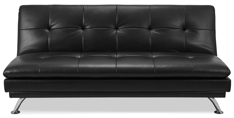 june leather look fabric futon   black the brick futon   furniture shop  rh   ekonomikmobilyacarsisi