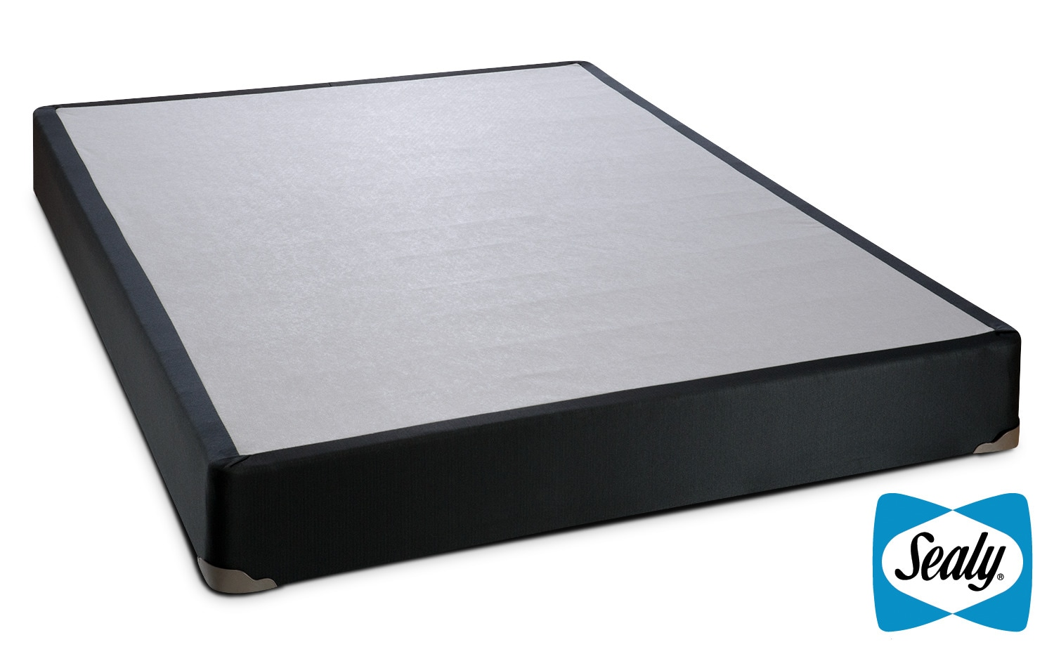 Mattresses and Bedding - Sealy Charcoal Luxe Queen Boxspring
