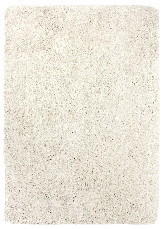 Carpette à poil long Loft blanc pur – 7 pi x 10 pi