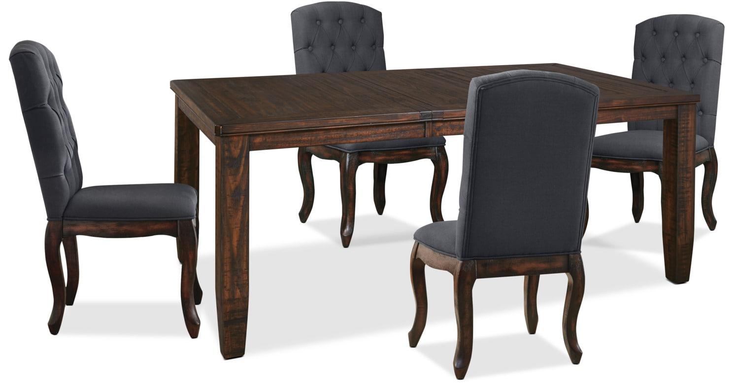 Trudell 5-Piece Dining Package with Upholstered Chairs
