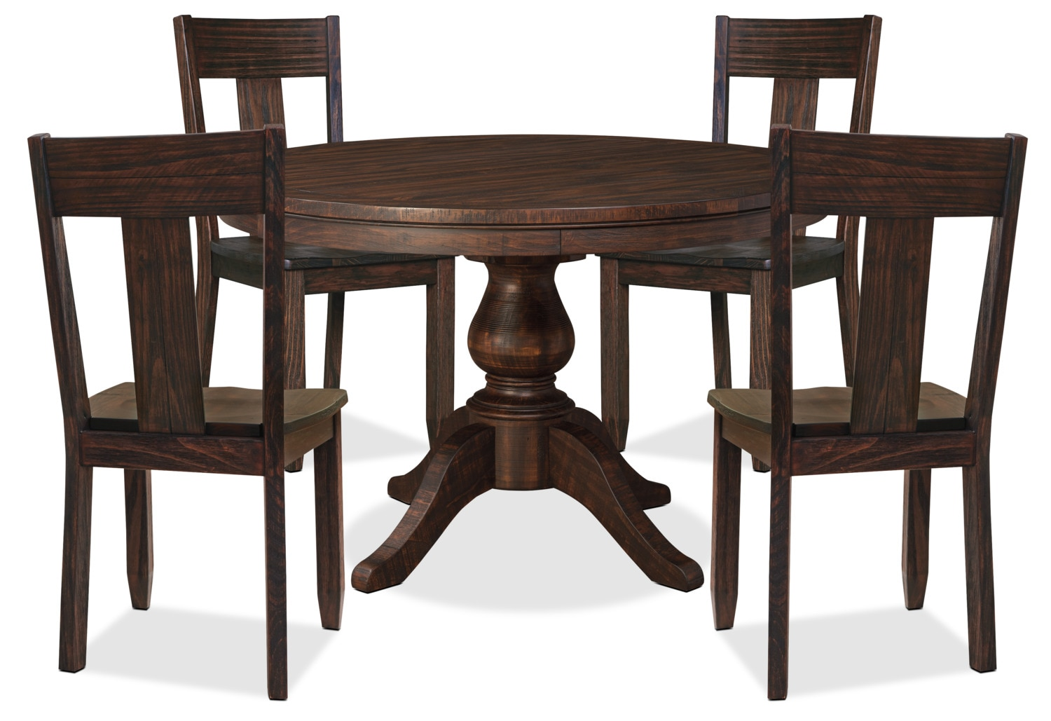 Dining Room Furniture - Trudell 5-Piece Round Dining Package