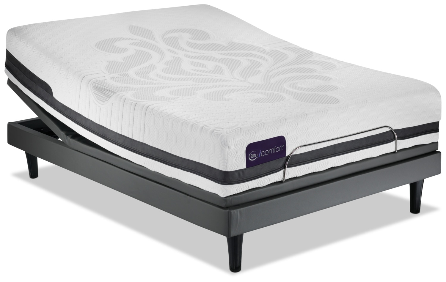 Serta iComfort Eco Peacefulness Plush Queen Mattress/Motion Perfect III Complete Adjustable Base