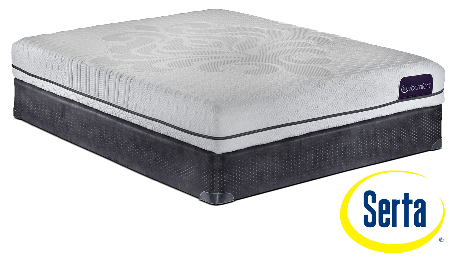 Serta icomfort eco levity firm queen mattress and boxspring set leon 39 s Queen bed and mattress