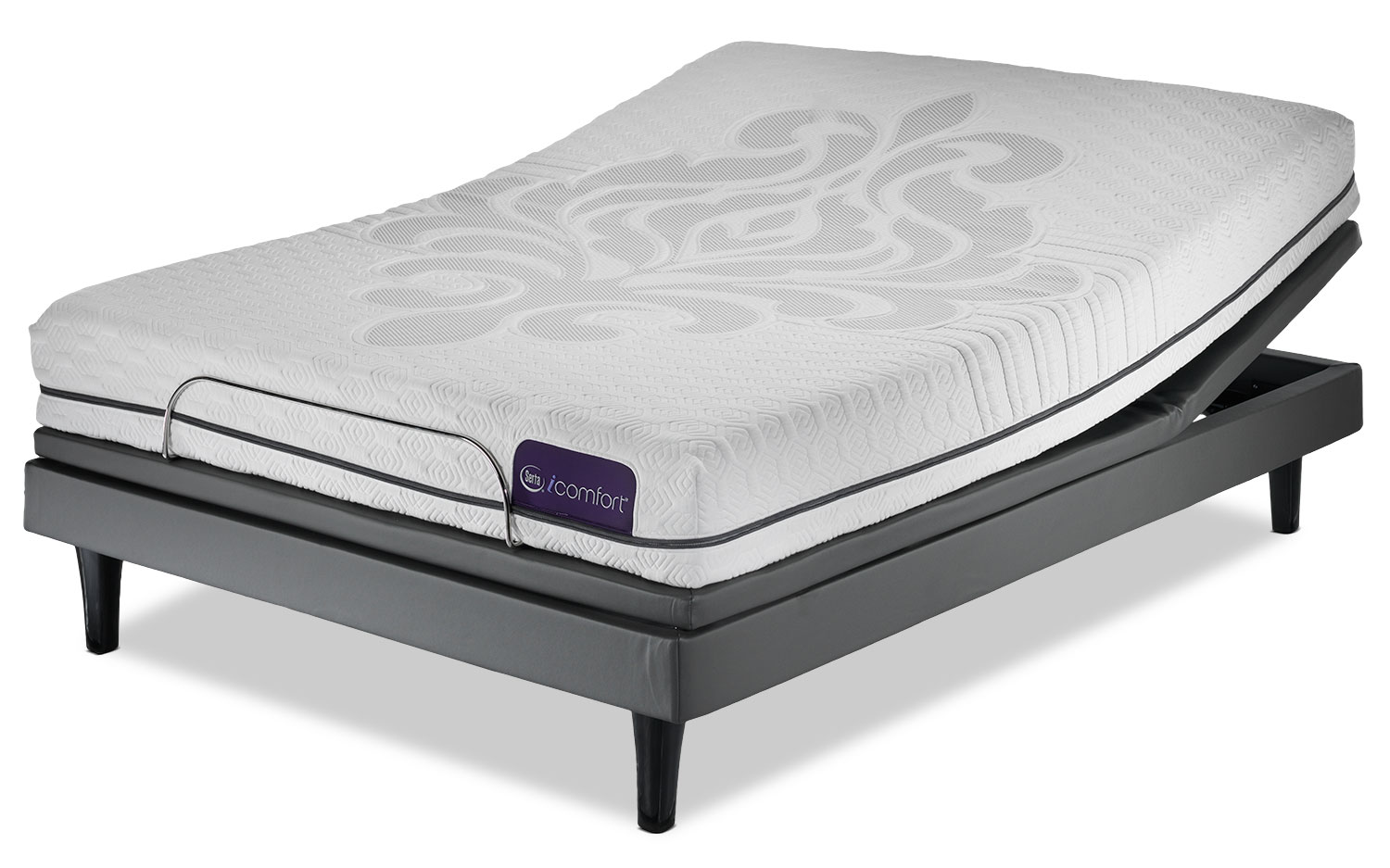 Serta iComfort Eco Levity Firm Queen Mattress and Motion Perfect III Complete Adjustable Base Set