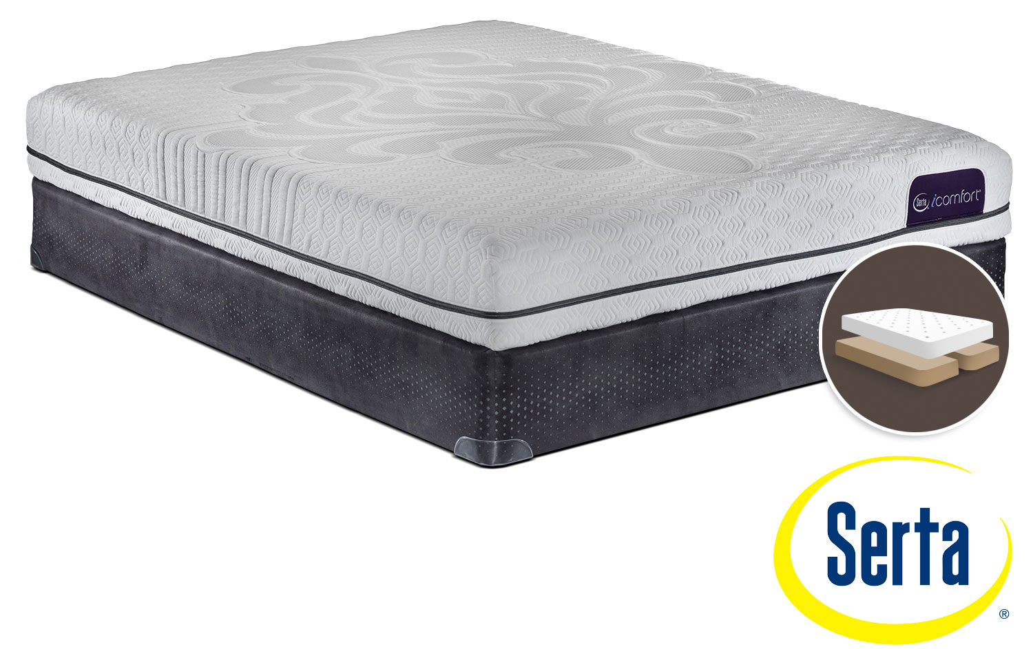 Serta iComfort Eco Levity Firm King Mattress and Split Boxspring Set