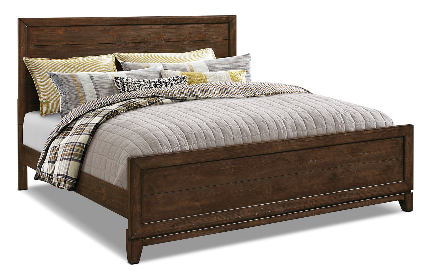 Tacoma king bed the brick for Bedroom set and mattress