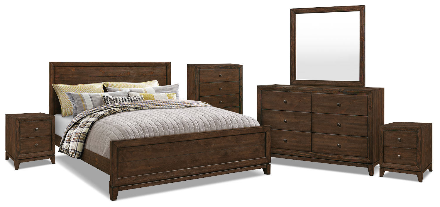 Bedroom Furniture - Tacoma 8-Piece King Bedroom Package