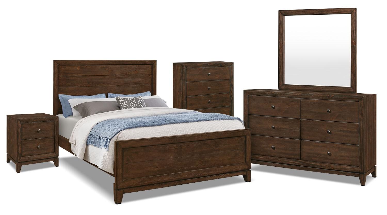 Bedroom Furniture - Tacoma 7-Piece Queen Bedroom Package