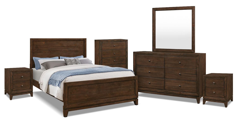 Bedroom Furniture - Tacoma 8-Piece Queen Bedroom Package