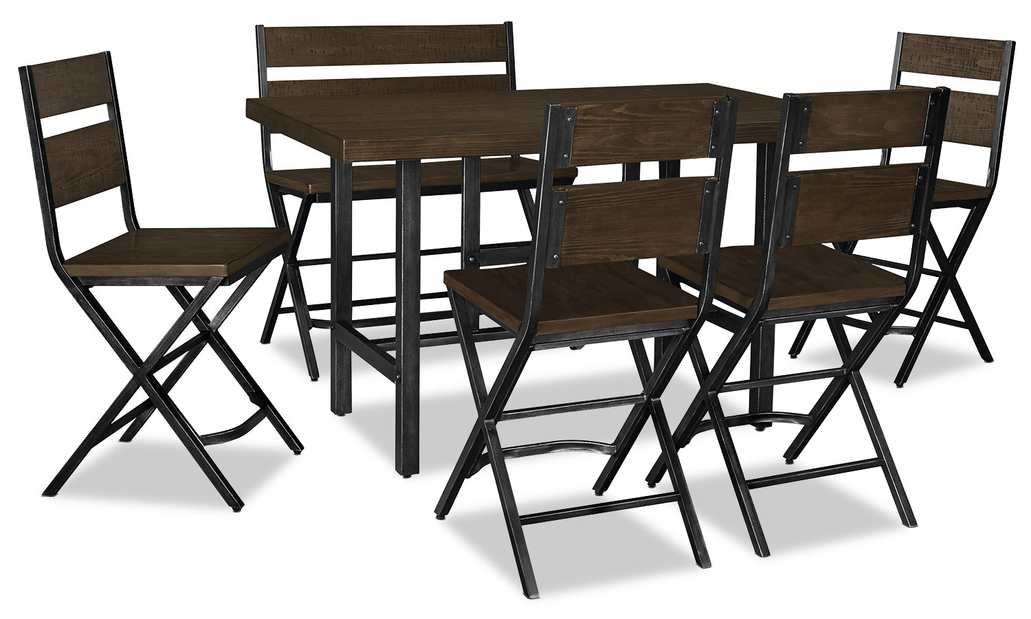 Dining Room Furniture - Kavara 6-Piece Counter-Height Dining Package