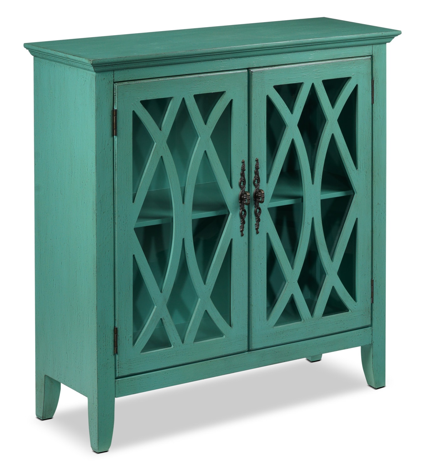 Accent and Occasional Furniture - Glennon Accent Cabinet - Teal