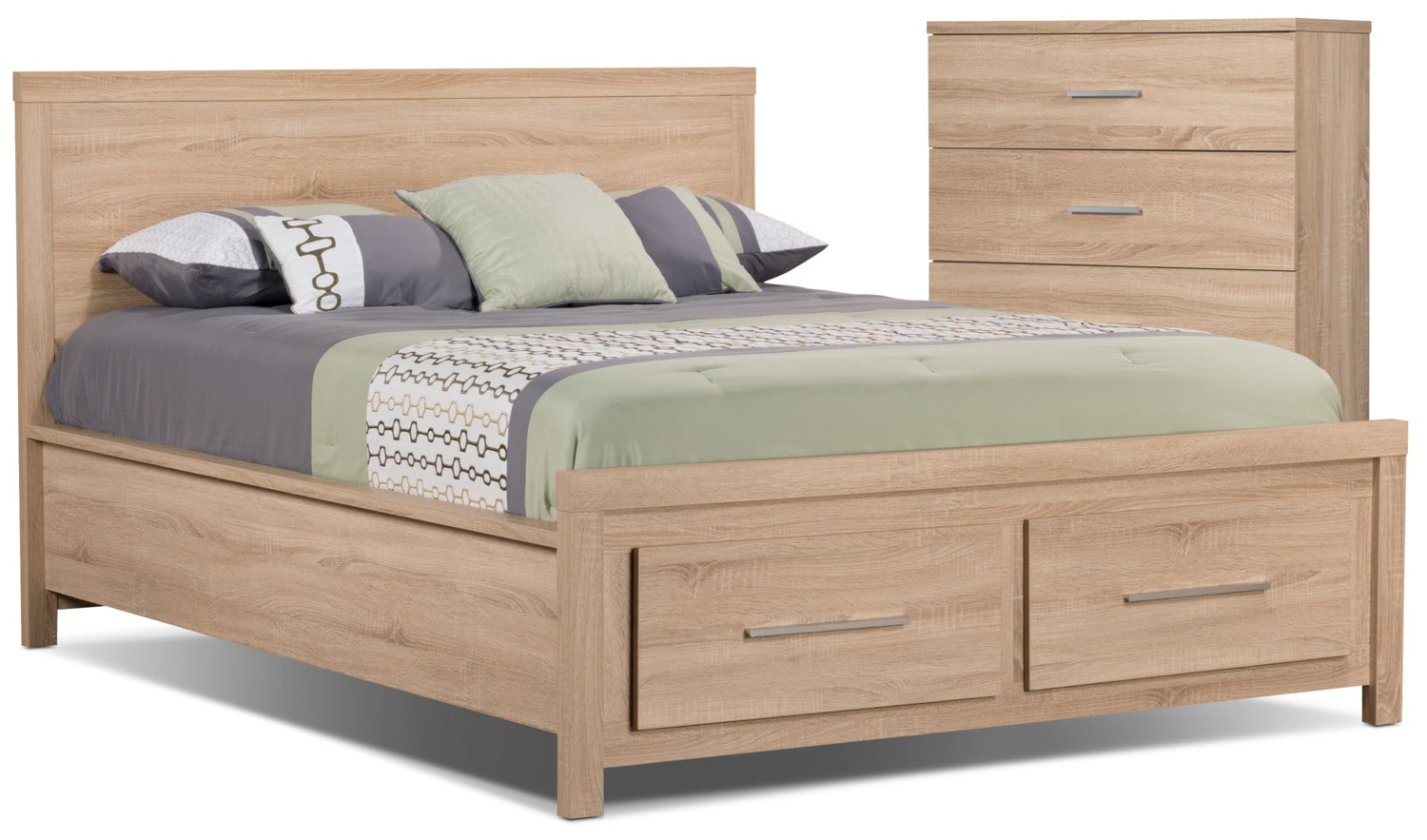 Sierra 4-Piece Queen Bed and Chest Package
