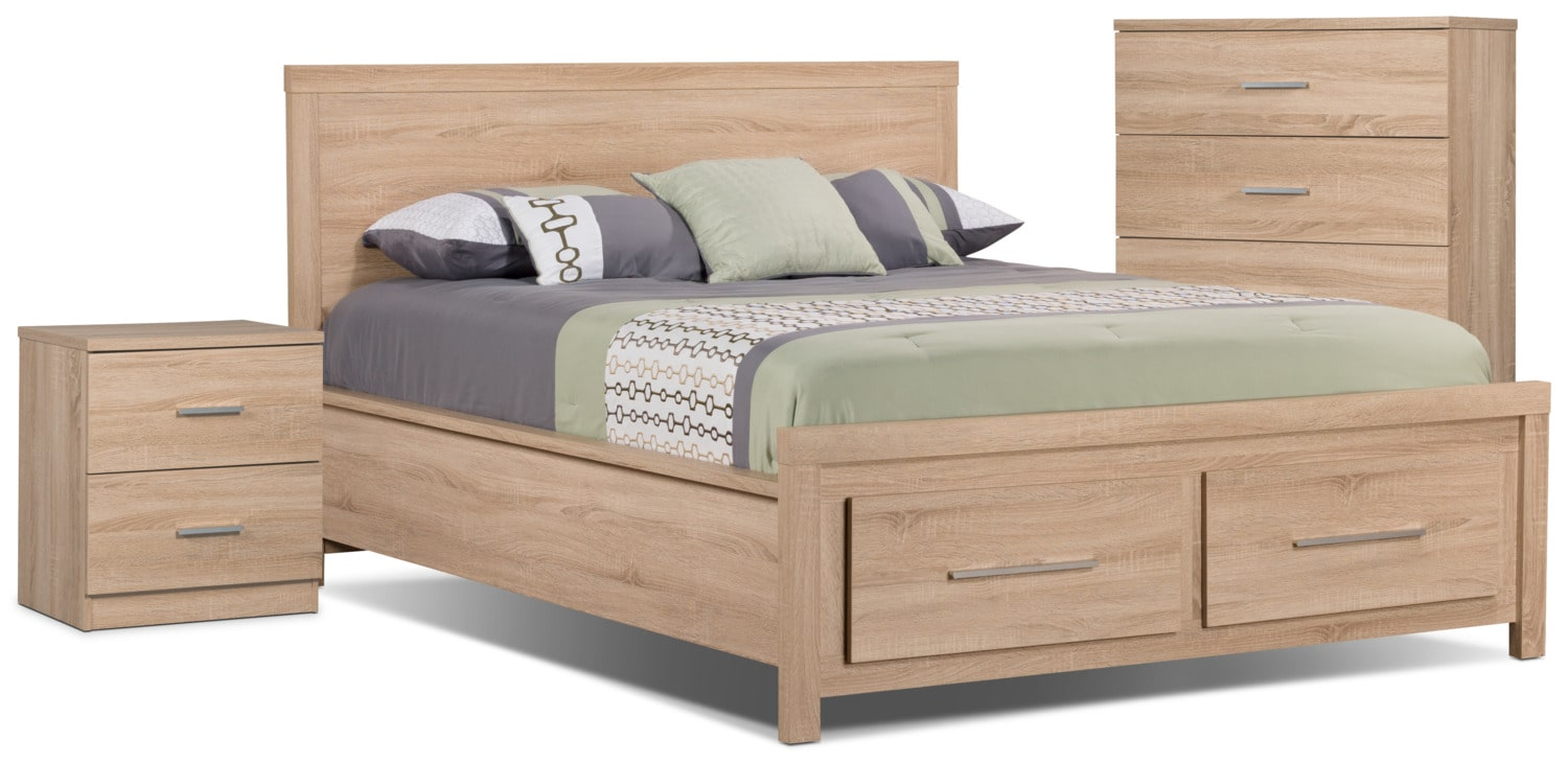 Sierra 5-Piece Queen Bedroom Package with Chest and Nightstand