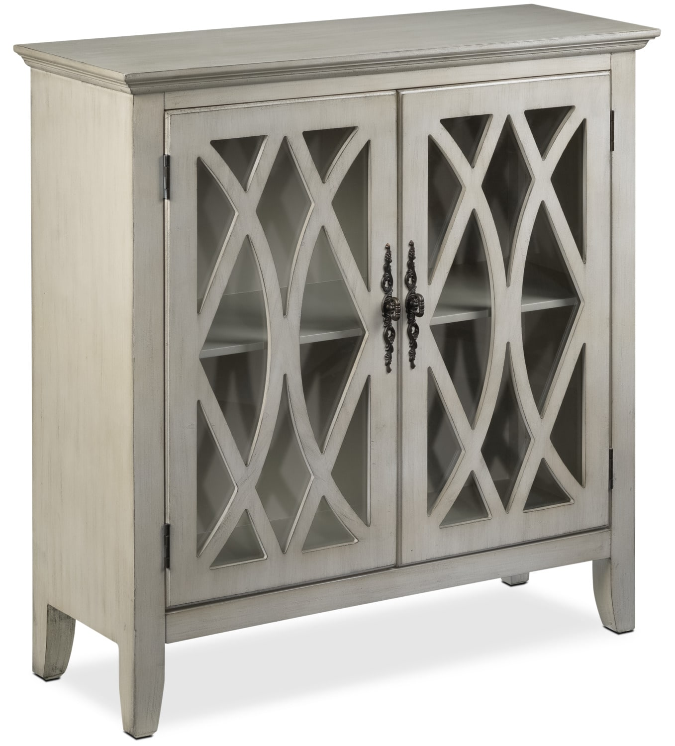Accent and Occasional Furniture - Glennon Accent Cabinet - Weathered White