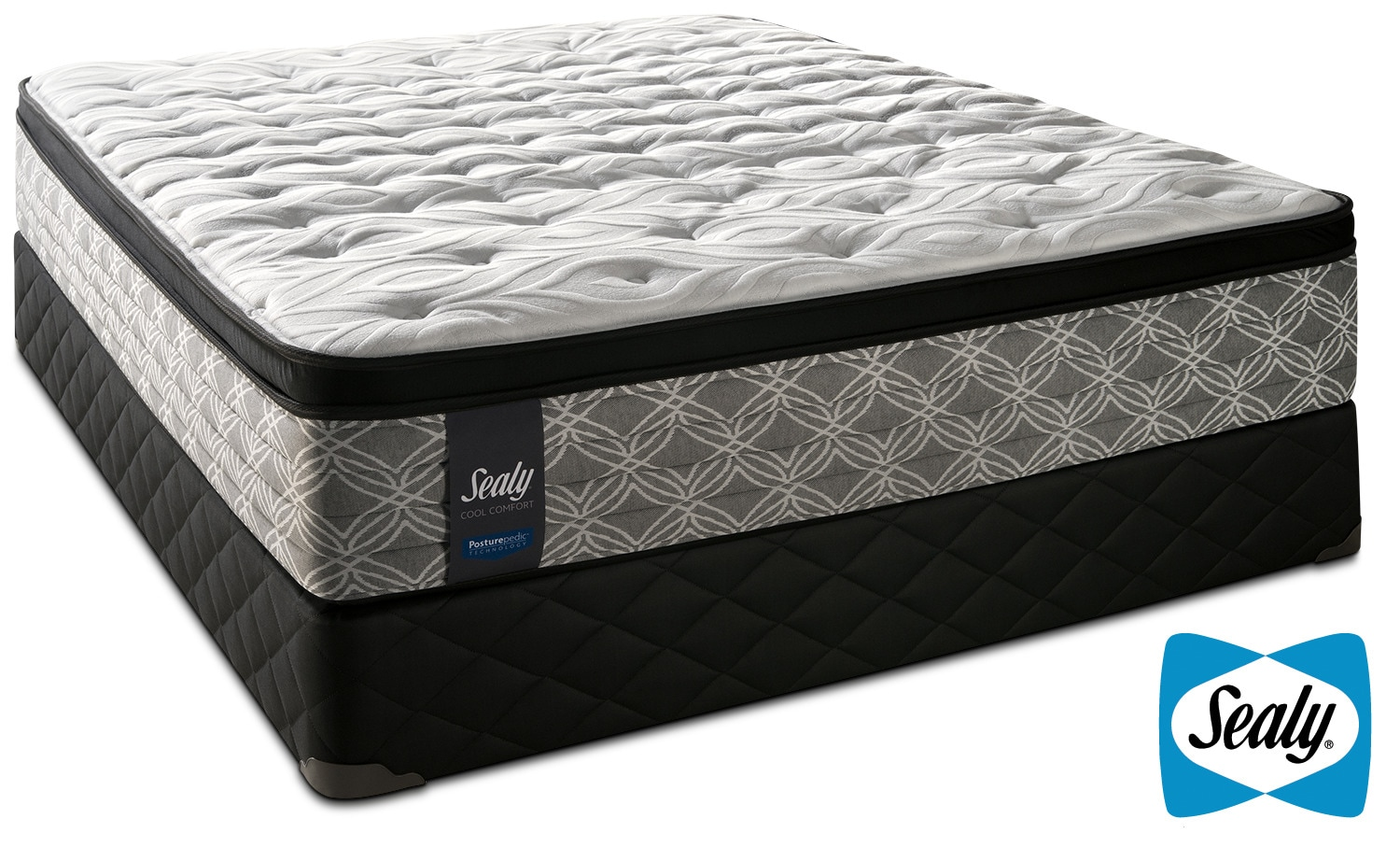 Mattresses and Bedding - Sealy Super Nova Cushion Firm Queen Mattress and Boxspring Set